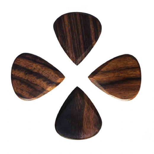 Blues Tones African Ebony 4 Guitar Picks